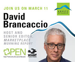 David Brancaccio Aresty Speaker
